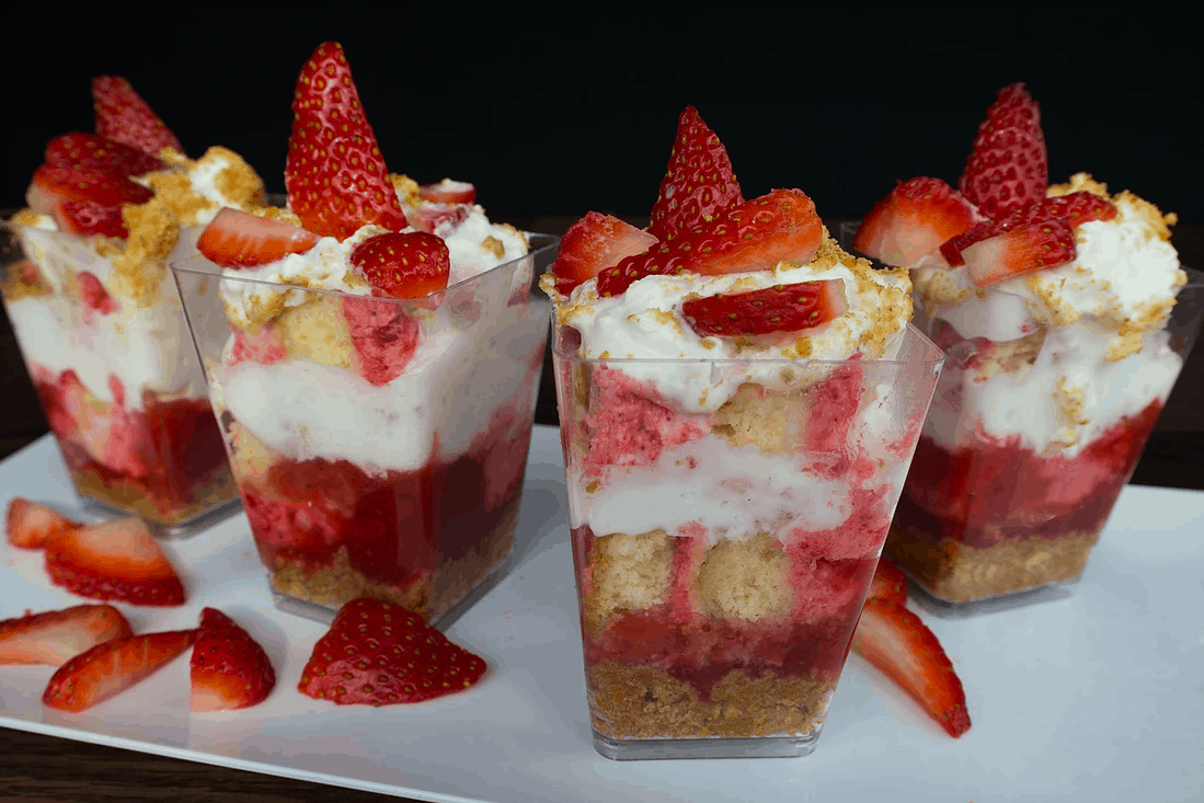 gournet strawberry dessert