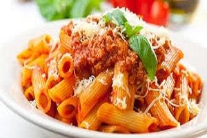 italian menu pasta